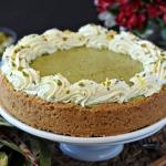Pistachio Pie with Lemon Whipped Cream
