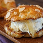 Croissant Salted Honey Ice Cream Sandwiches