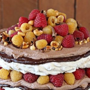 Hazelnut Meringue Cake | From SugarHero.com