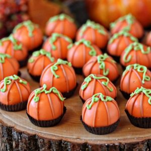 Pumpkin Bread Truffles | From SugarHero.com