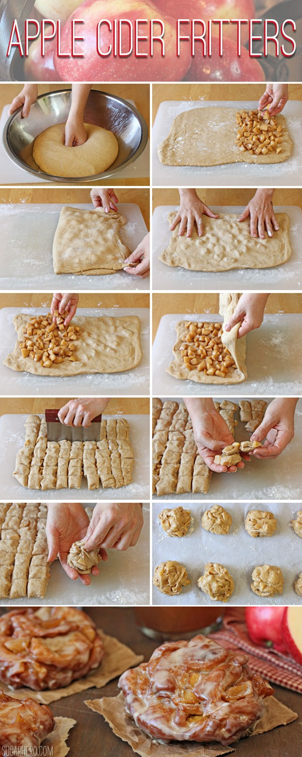 How to Make Apple Cider Fritters | From SugarHero.com