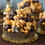 Double Caramel Popcorn Brownies