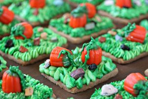 Pumpkin Patch Shortbread | From SugarHero.com