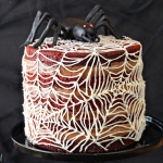 Spiderweb Naked Red Velvet Cake