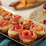Apple Cranberry Gouda Puff Pastry Roses