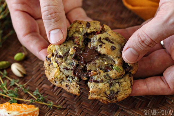 Clemen-Thyme Chocolate Chunk Cookies | From SugarHero.com