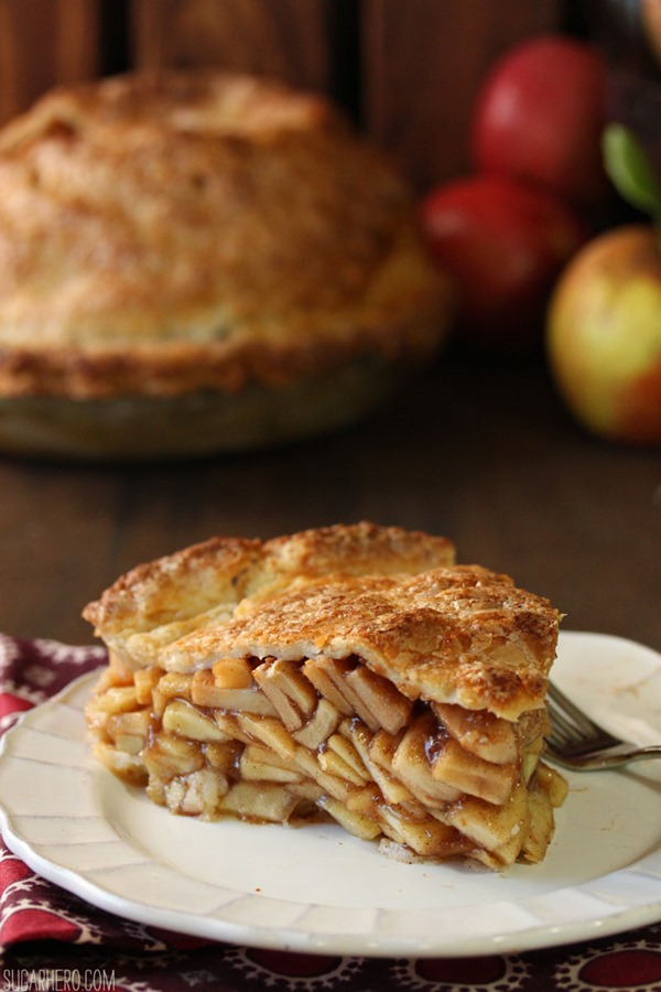 Mile High Apple Pie | From SugarHero.com