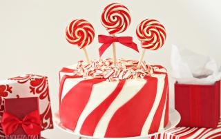Candy Cane Chocolate Cake   From SugarHero.com