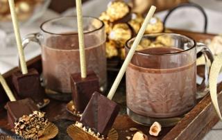Hazelnut Hot Chocolate On A Stick   From SugarHero.com