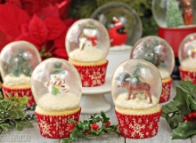 Snow Globe Cupcakes | From SugarHero.com
