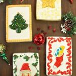 Vintage Christmas Card Cakes   From SugarHero.com