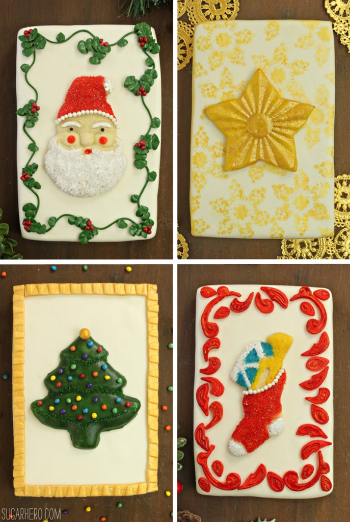 Vintage Christmas Card Cakes | From SugarHero.com