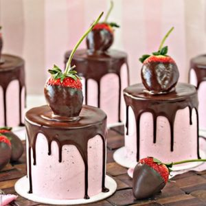 Chocolate-Covered Strawberry Cake | From SugarHero.com