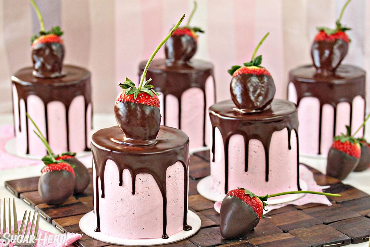 Chocolate Covered Strawberry Cakes SugarHero