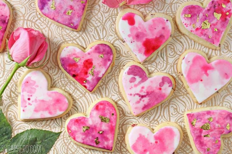Watercolor Rose Sugar Cookies Sugarhero