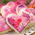 Watercolor Rose Sugar Cookies
