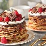 Chocolate Rasperry Mini Crepe Cakes