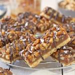 Salted Honey Walnut Bars