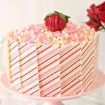 Strawberries and Cream Layer Cake
