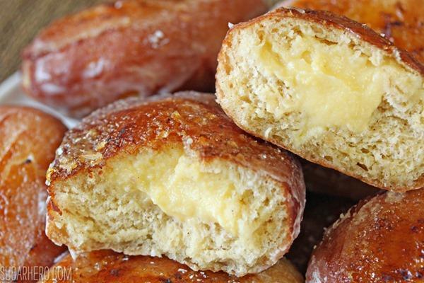 Crème Brulee Doughnuts | From SugarHero.com