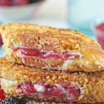 Mascarpone Rhubarb Stuffed French Toast