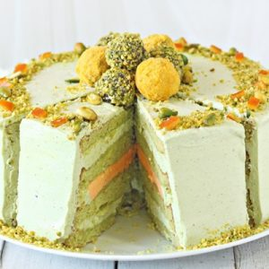 Pistachio Orange Cake | From SugarHero.com