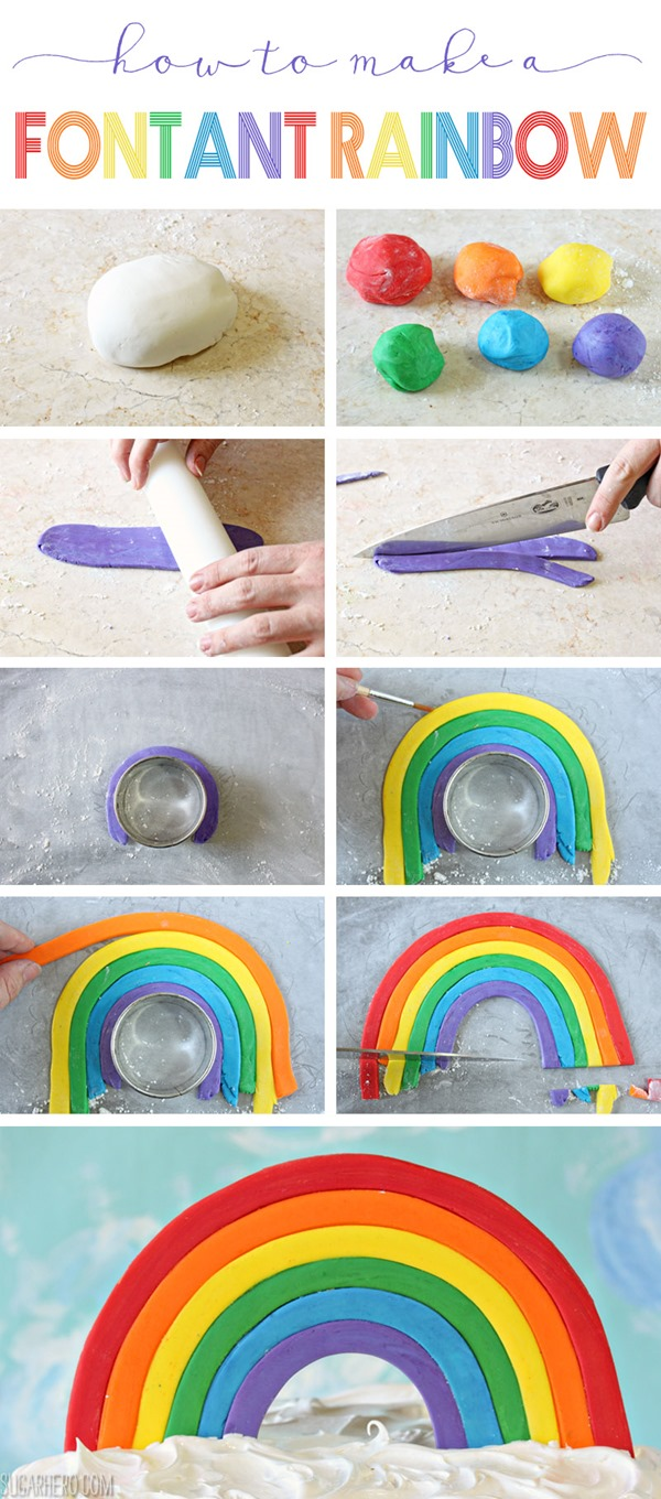 How to Make A Fondant Rainbow | From SugarHero.com