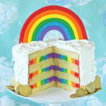 Rainbow in the Clouds Cake