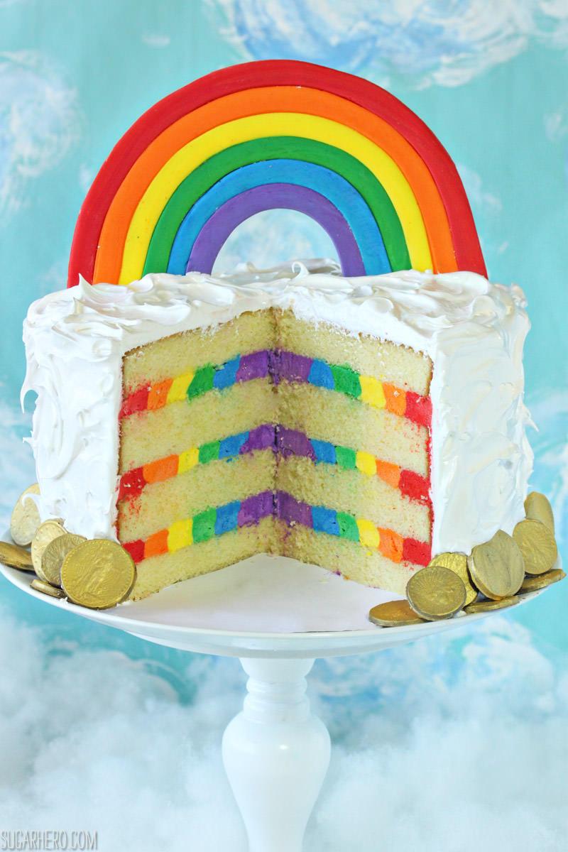 Rainbow In The Clouds Cake Sugarhero