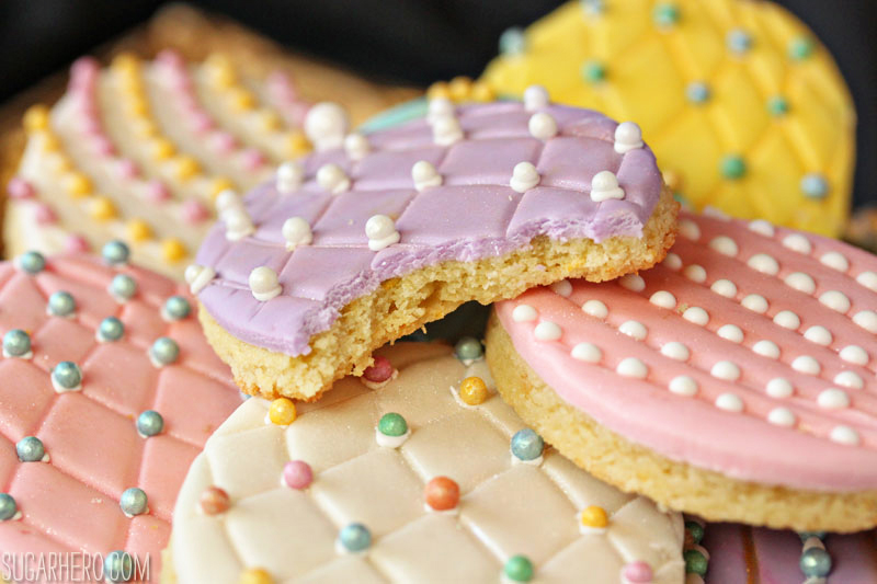 Faberge Egg Sugar Cookies | From SugarHero.com