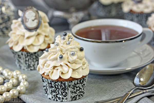 Earl Grey Lavender Cupcakes | From SugarHero.com