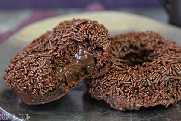 Chocolate Blackout Doughnuts | From SugarHero.com