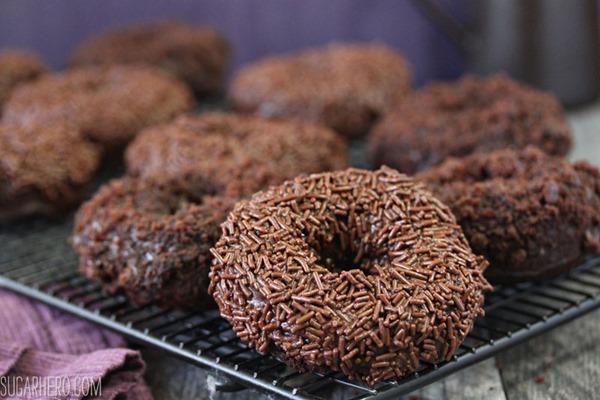 Chocolate Blackout Doughnuts   From SugarHero.com