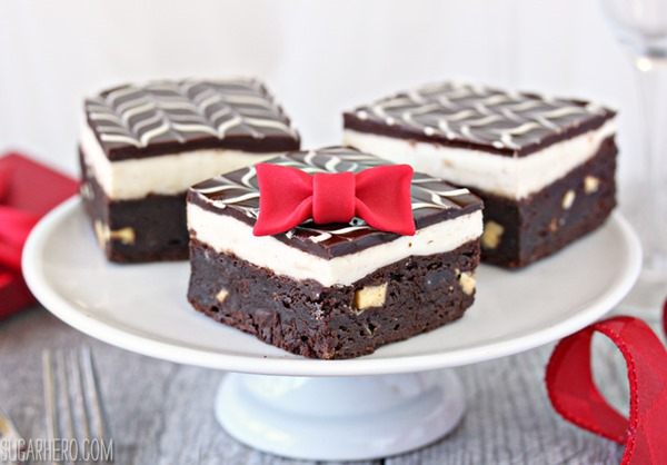 Tuxedo Brownies | From SugarHero.com