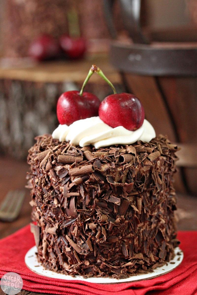 Black Forest Mini Cakes | From SugarHero.com