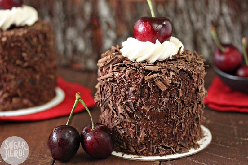 Black Forest Mini Cakes - SugarHero