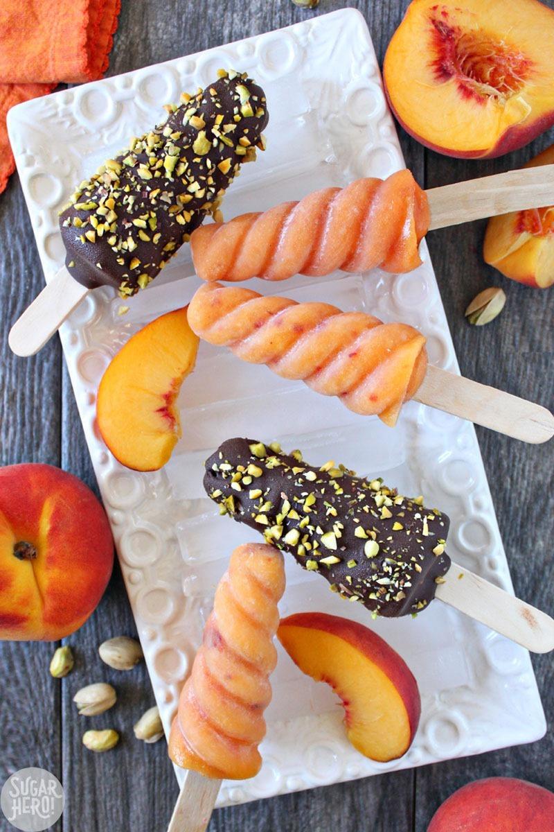 Peach Passion Pops | From SugarHero.com