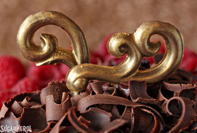 Chocolate Raspberry Mousse Cake | From SugarHero.com