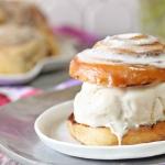 Cinnamon Roll Ice Cream Sandwiches