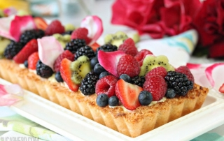 Coconut Macaroon Tart | From SugarHero.com