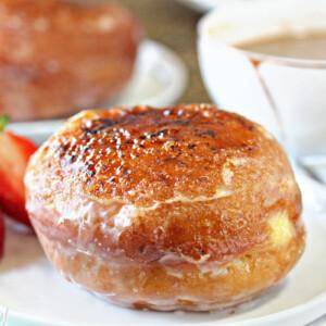 Creme Brulee Doughnuts | From SugarHero.com