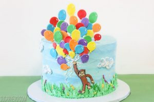 Curious George Birthday Cake | From SugarHero.com