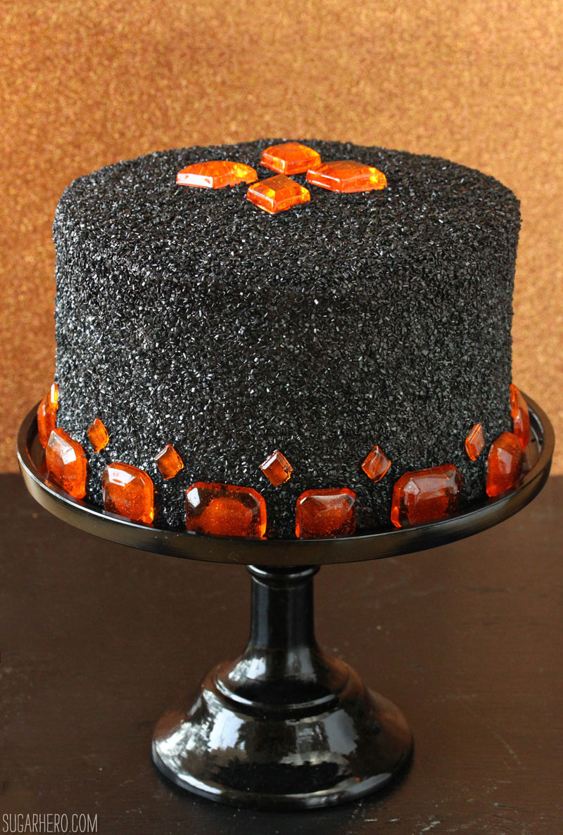 Devil's Food Cake with Pumpkin Butterscotch Frosting | From SugarHero.com