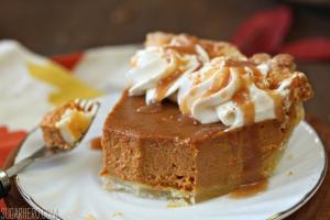 Dulce de Leche Pumpkin Pie   From SugarHero.com