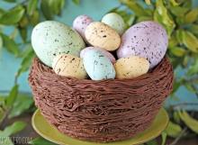 Easter Nest Cake   From SugarHero.com