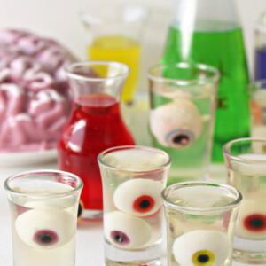 Floating Eyeball Jello Shots | From SugarHero.com