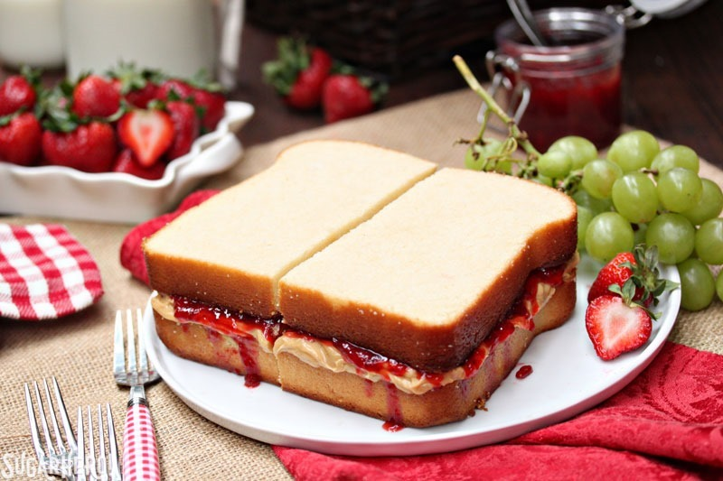 peanut butter and jelly cake peanut butter and jelly sandwich cake sugarhero 6415