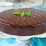 Peppermint Patty Flourless Chocolate Cake