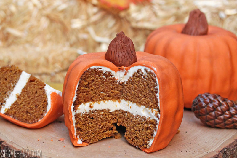 Pumpkin Bundt Cakes | From SugarHero.com