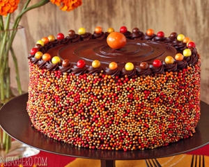 Pumpkin Layer Cake   From SugarHero.com
